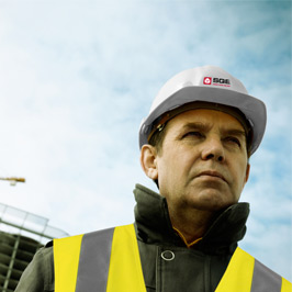 a health and safety consultant at work on site